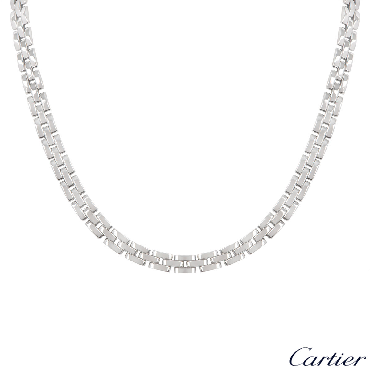 Cartier White Gold Maillon Panthere Necklace